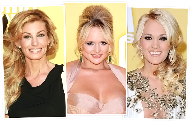 Miranda Lambert, Faith Hill, and Carrie Underwood