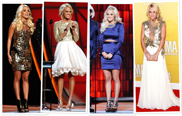 Carrie Underwood 12 dresses