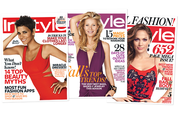 InStyle magazine covers