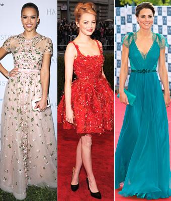 Jessica Alba, Emma Stone, Kate Middleton