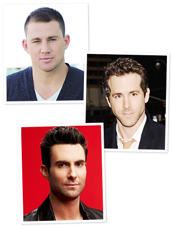 Channing Tatum, Ryan Reynolds, Adam Levine