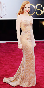 Jessica Chastain in Armani