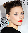 Scarlett Johansson - Celebrity Beauty Tip - Bold Red Lip