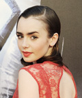 Daily Beauty Tip - Sleek Retro Coiff - Lily Collins