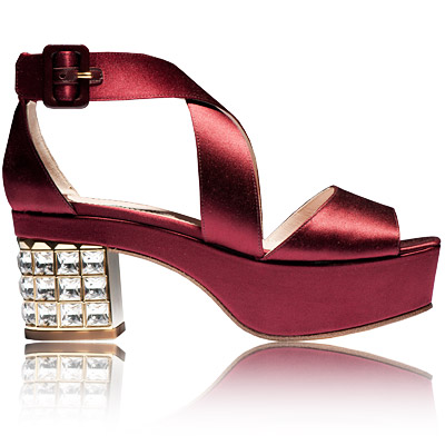 Miu Miu - satin sandals - we're obsessed