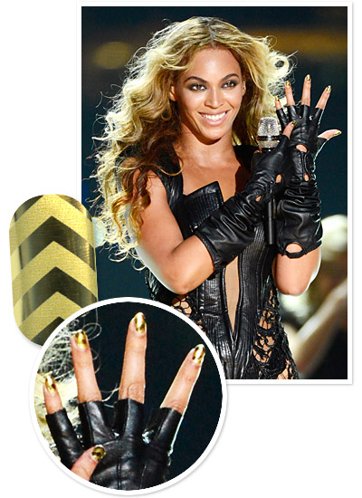 Look of the Day photo | Beyoncé's Gold Minx Manicure