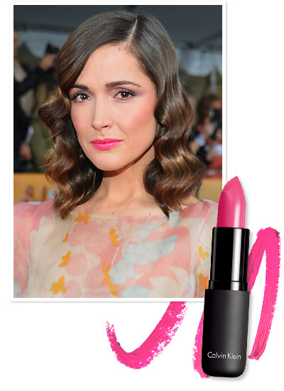 Look of the Day photo | Rose Byrne's Hot Pink Lipstick