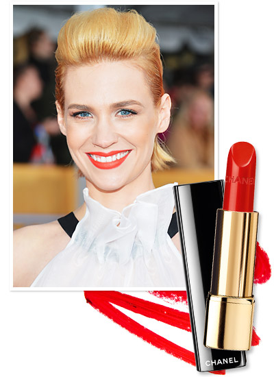 Look of the Day photo | January Jones's Tomato Red Lipstick