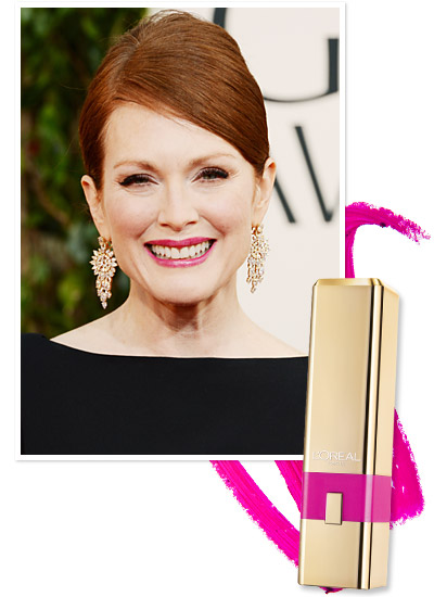 Look of the Day photo | Julianne Moore's Fuchsia Lipstick