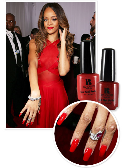 Look of the Day photo | Rihanna's Red Grammy Lacquers
