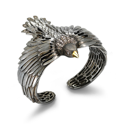 Elizabeth and James Meadowlark Bird Cuff