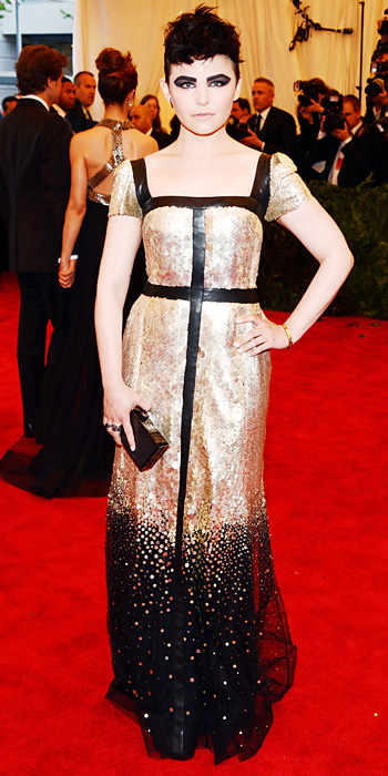 Ginnifer Goodwin punk style in Tory Burch at the Met Gala 2013