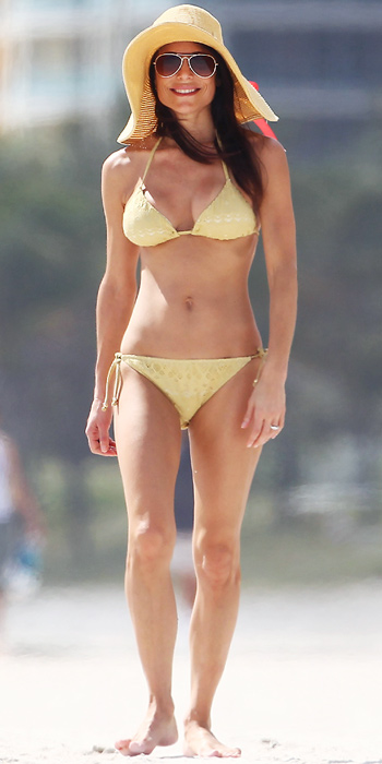 Bethenny Frankel in a yellow bikini