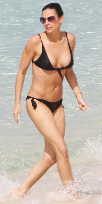 Demi Moore in a tie bikini
