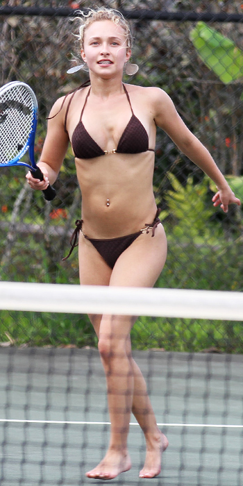 Hayden Panettiere in a brown bikini