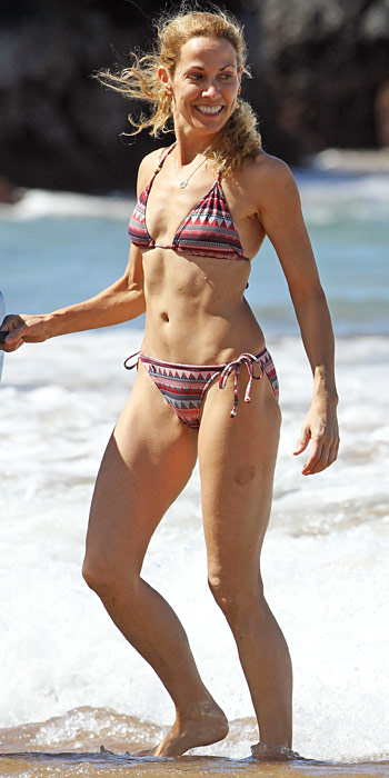 Sheryl Crowe in a tribal print bikini
