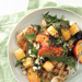 Roast Chicken Breast with Peach Panzanella