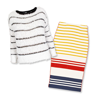 Look of the Day photo | Combo 4: Fall For All-Over Stripes