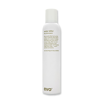 evo water killer dry shampoo a Evo water killer dry shampoo (300ml) refreshes your hair between washes making evo water killer dry shampoo (300ml) refreshes your hair between washes making it perfect for when.