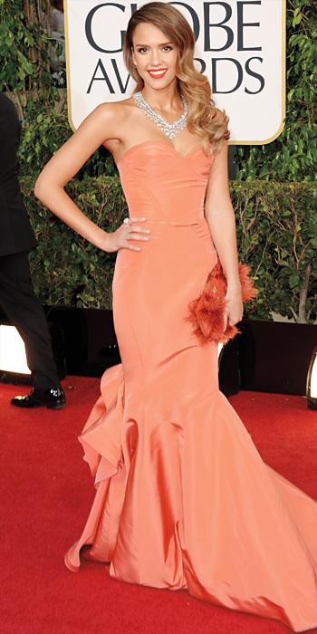 Jessica Alba 10 Best - Oscar de la Renta, 2013
