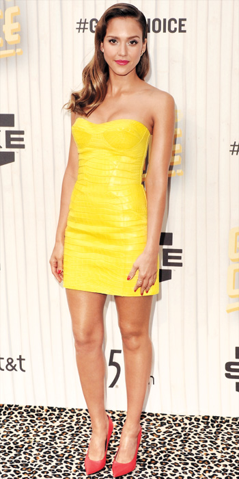 Jessica Alba 10 Best - In Versace, 2013