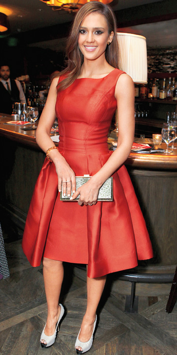 Jessica Alba 10 Best - In Carolina Herrera, 2012