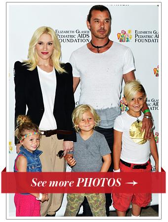 Gwen Stefani, Gavin Rossdale, kids