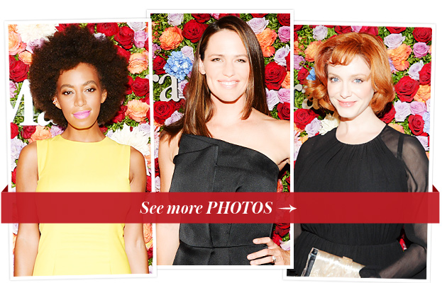 Solange Knowles, Jennifer Garner, and Christina Hendricks