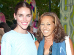 Hilary Rhoda and Donna Karan