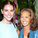 Donna Karan and Hilary Rhoda Paddle and Party in the Hamptons