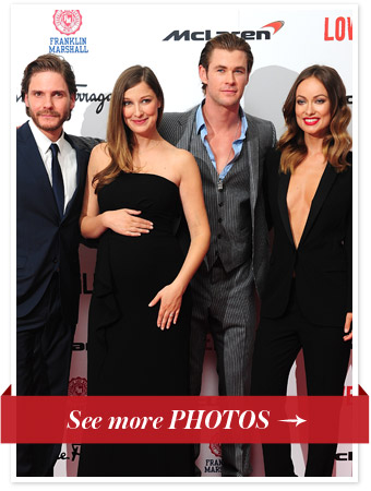 Daniel Bruhl, Alexandra Maria Lara, Chris Hemsworth and Olivia Wilde