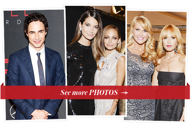 Zac Posen, Lily Aldridge, Nicole Richie, Christie Brinkley and Rachel Zoe