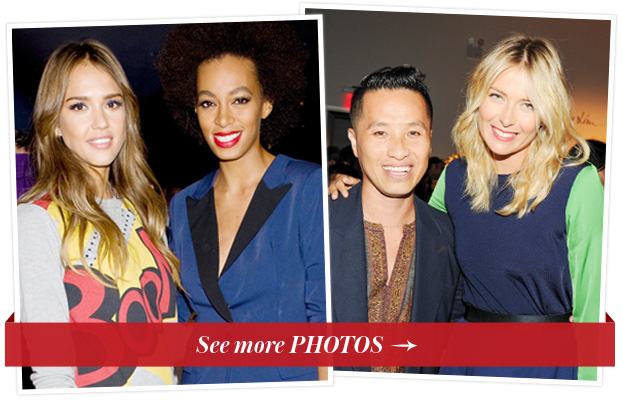 Jessica Alba, Solange Knowles, Phillip Lim and Maria Sharapova