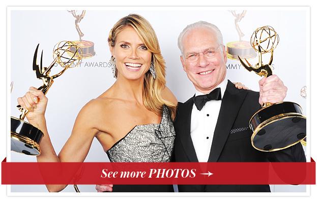 Heidi Klum and Tim Gunn, Emmys 2013