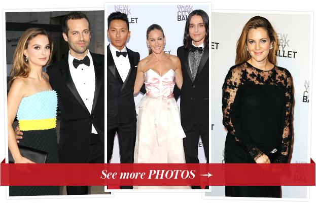 Natalie Portman, Benjamin Millepied, Prabal Gurung, Sarah Jessica Parker, Olivier Theyskens and Drew Barrymore