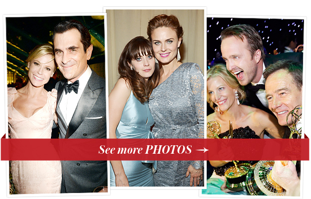 Julie Bowen, Ty Burrell, Zooey and Emily Deschanel and Aaron Paul, Anna Gunn and Bryan Cranston