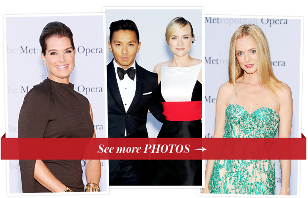 Brooke Shields, Prabal Gurung and Diane Kruger and Heather Graham