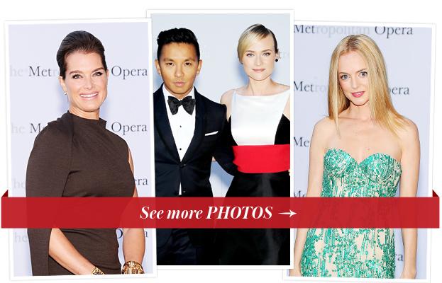 Brooke Shields, Prabal Gurung and Diane Kruger and Heather Graham