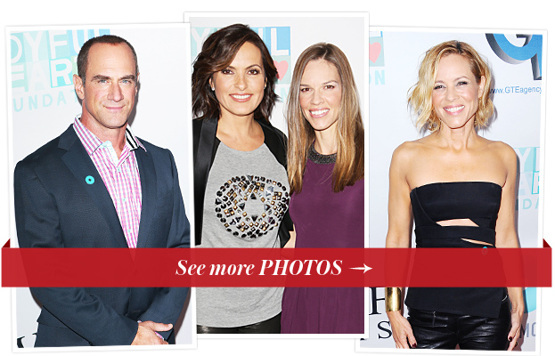 Chris Meloni, Mariska Hargitay, Hilary Swank and Maria Bello