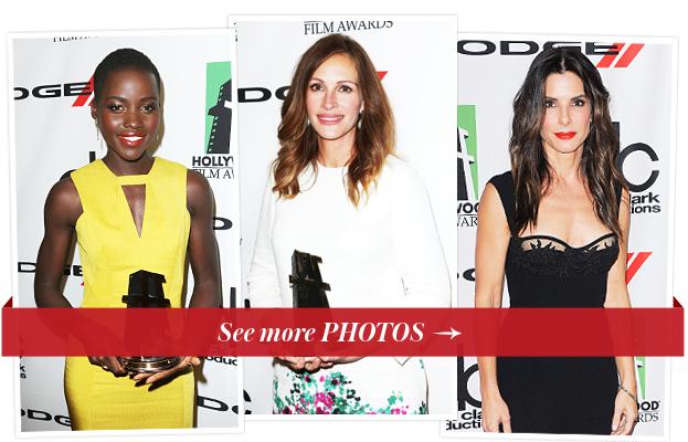 Lupita Nyong'O, Julia Roberts and Sandra Bullock