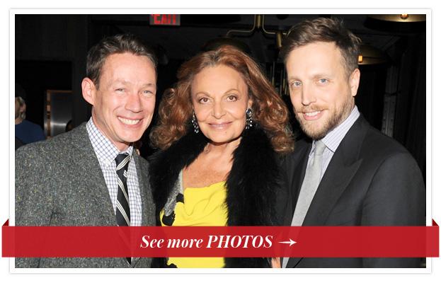 Eric Wilson, Diane von Furstenberg and Ariel Foxman