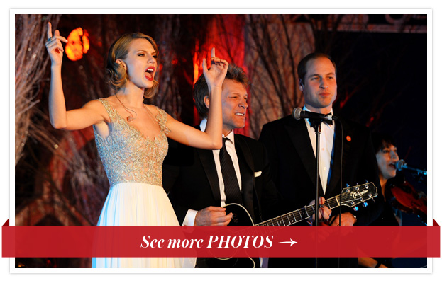 Taylor Swift, Bon Jovi and Prince William