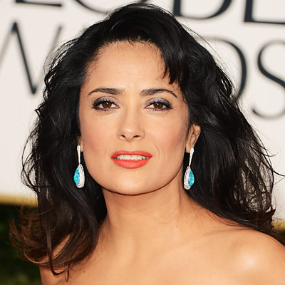 Salma Hayek Pinault - Transformation - Hair - Celebrity Before and After