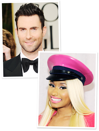 Nicki Minaj Adam Levine