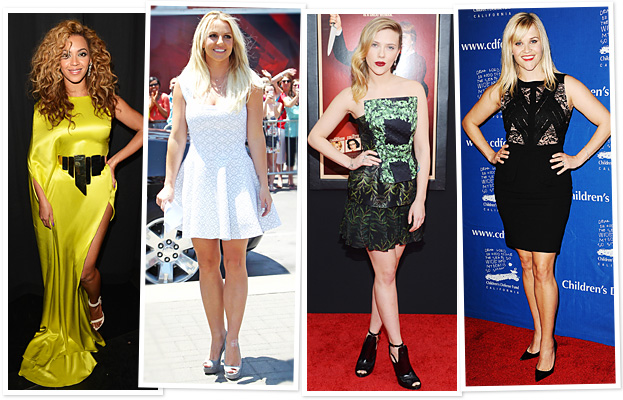 Beyonce, Britney Spears, Scarlett Johansson, Reese Witherspoon