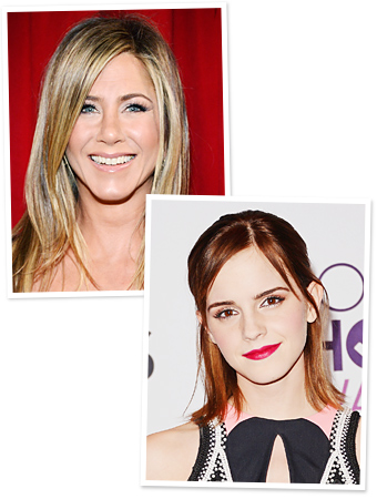 People&#039;s Choice Awards Makeup - Jennifer Aniston - Emma Watson