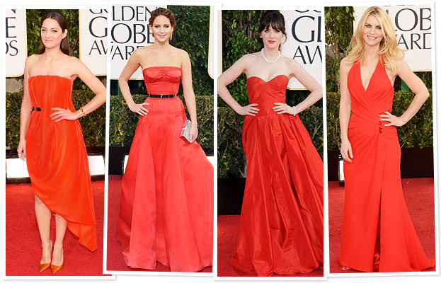 Marion Cotillard, Jennifer Lawrence, Zooey Deschanel, Claire Danes
