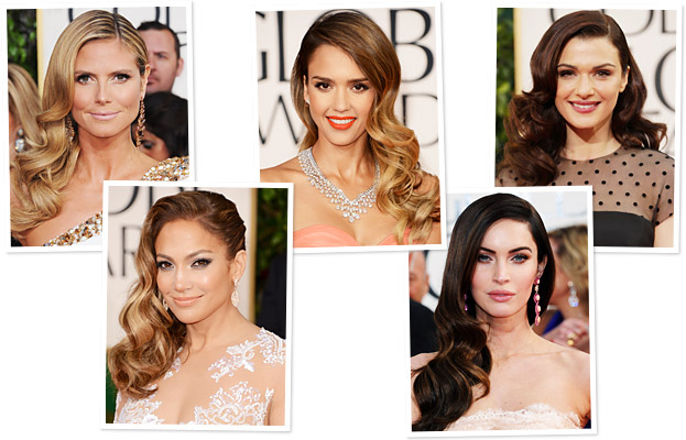 Golden Globes Hair - Side Swept Curls