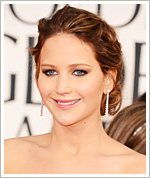 Jennifer Lawrence Hair - Golden Globes 2013