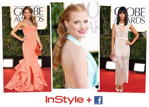 Facebook InStyle Golden Globes